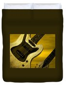 Sun Stained Yellow Electric Guitar Duvet Cover
