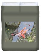 Sun Water Flowers And Fish Duvet Cover