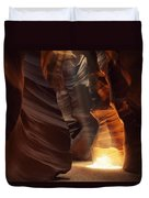 Sunbeam In Antelope Canyon Duvet Cover