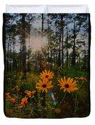 Sunburst On Sunflowers Duvet Cover