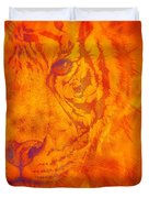 Sunburst Tiger On Fire Duvet Cover