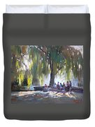 Sunday Afternoon By The Fontain Duvet Cover