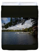 Jamaica Pond Sailing Duvet Cover