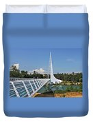Sundial Bridge - Sit And Watch How Time Passes By Duvet Cover by Christine Till