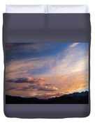 Sundown On The Sierras Duvet Cover