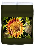 Sunflower And Bud Duvet Cover