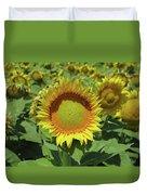 Sunflower And Honeybee July Two K O Nine Duvet Cover