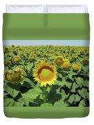 Sunflower And Honeybees July Two K O Nine  II Duvet Cover