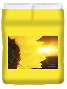 Sunflower And Sunset Duvet Cover