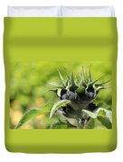 Sunflower Bud Duvet Cover