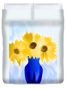 Sunflower Fantasy Still Life Duvet Cover