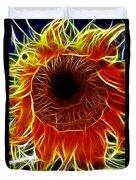 Sunflower Fractal Duvet Cover