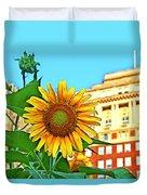 Sunflower In The City Duvet Cover