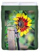Sunflower On A Stick Duvet Cover