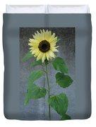 Sunflower Stalk  Duvet Cover