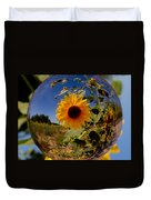 Sunflower Through A Glass Eye Duvet Cover