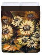 Sunflowers 12 Square Painting Duvet Cover