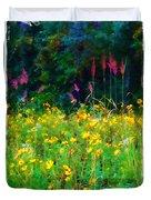 Sunflowers And Grasses Duvet Cover