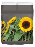 Sunflowers At Pikes Market Duvet Cover