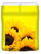 Sunflowers Duvet Cover by Elena Elisseeva