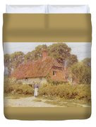 Sunflowers By Helen Allingham Duvet Cover