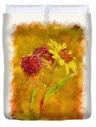 Sunflowers In Fall Duvet Cover