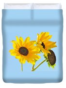 Sunflowers Sky Duvet Cover
