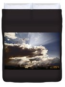 Sunlight And Stormy Skies Duvet Cover