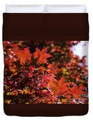 Sunlight Autumn Leaves Duvet Cover