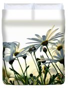 Sunlight Behind The Daisies Duvet Cover
