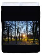 Sunlight Between The Trees Duvet Cover
