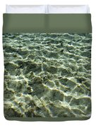Sunlight Creates Reflective Patterns Duvet Cover
