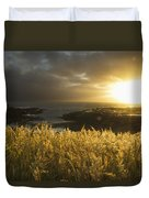 Sunlight Glowing At Sunset And Duvet Cover