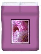 Sunlight Through Pink Dahlias Duvet Cover by Carol Groenen
