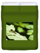 Sunlit Dragonfly Duvet Cover