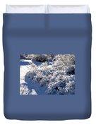Sunlit Snowy Sanctuary Duvet Cover
