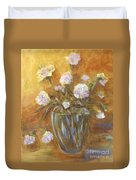 Sunny Carnations In A Vase Duvet Cover