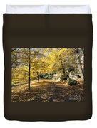 Sunny Day In The Autumn Park Duvet Cover