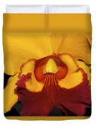 Sunny Yellow Orchid Duvet Cover