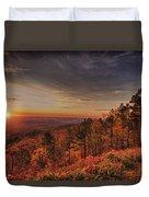 Sunrise 2-talimena Scenic Drive Arkansas Duvet Cover by Douglas Barnard