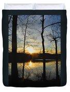 Sunrise Along The Delaware River Duvet Cover