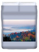 Sunrise And Fog In The Cumberland River Valley Duvet Cover
