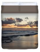 Sunrise At Bamburgh Beach Duvet Cover