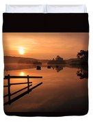 Sunrise At Knapps Loch Duvet Cover