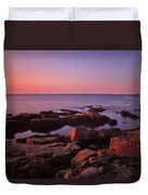 Sunrise At Otter Point Duvet Cover