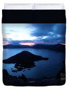 Sunrise At The Crater Duvet Cover