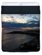 Sunrise At The Edge Duvet Cover