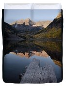 Sunrise At The Maroon Bells Reflected Duvet Cover