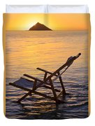 Sunrise Beach Lounging Duvet Cover