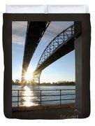 Sunrise Blue Water Bridges Duvet Cover